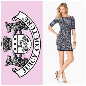 JUICY COUTURE Anchor Away Navy Blue Jacquard Dress